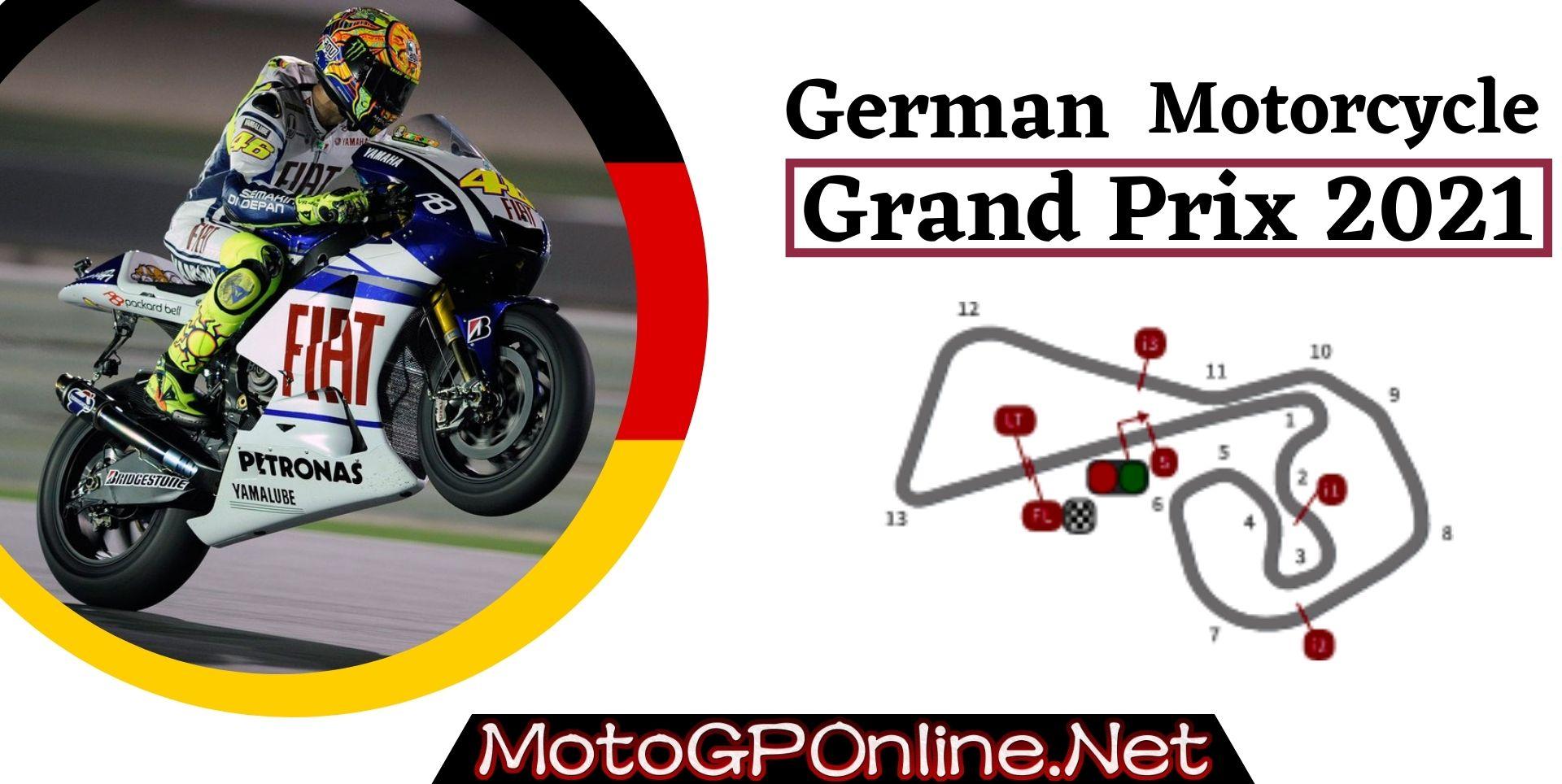 German GP MotoGP Live Stream 2021 Qualifying 1