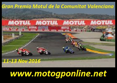 Watch MotoGP Valencia 2016 Live