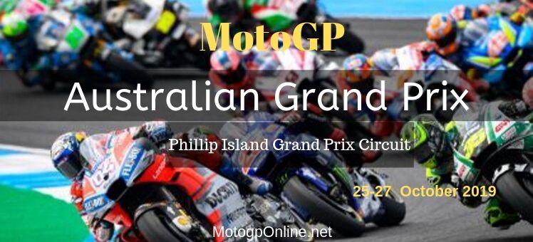 Australian GP Moto3 FP1 Live Stream