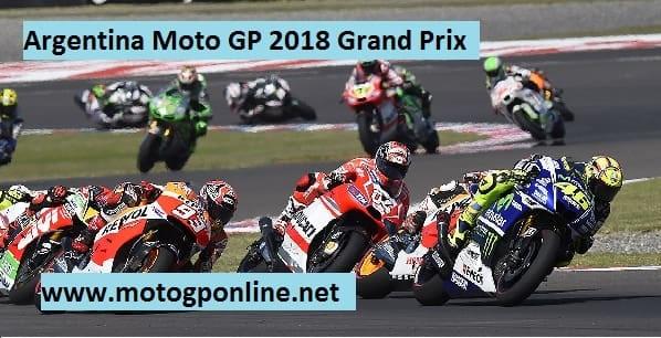 Argentina Moto GP 2018 Grand Prix Live