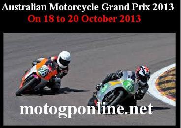 Australian Motorcycle Grand Prix 2013