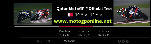 Qatar MotoGP Official Test live